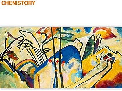Kykdy Cadre Celebre Peinture Bricolage Peinture Par Numeros Peinture De Toile Acrylique Abstraite Pour La Decoration De La Maison Salon 60x120 40cmx50cm Pas Encadree Amazon Fr Cuisine Maison