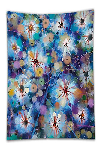 [Beshowereb Fleece Throw Blanket Watercolor Flower Vivid Fairy Pattern with Firefly Bug Mother Earth Design Turquoise Purple.jpg] (Firefly Bug Costumes)