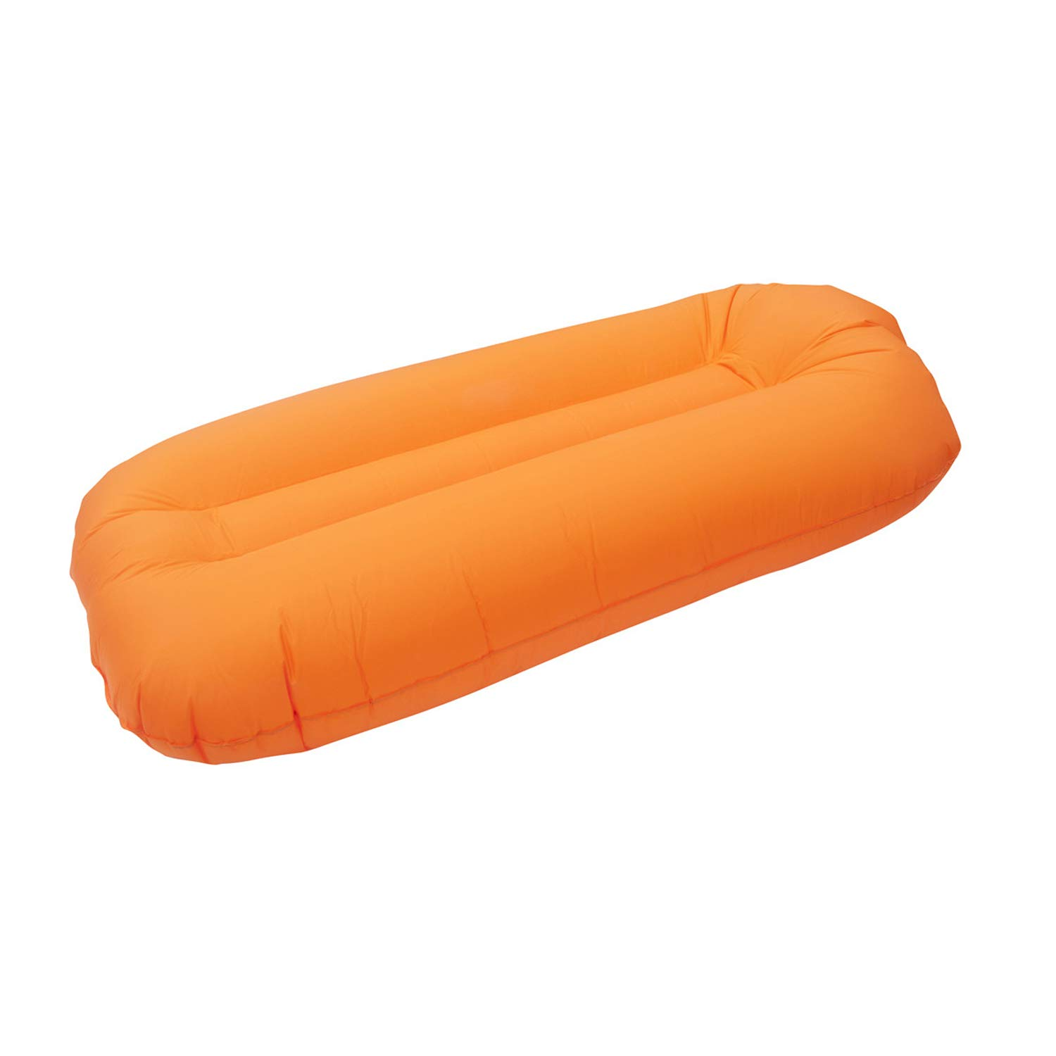 SUNSHINEMALL Inflatable Lounger Air Chair Couch Hammock, Lazy Hangout Beach Couch Camping Sofa Couch Sport Outdoor Pool Toy Float (Orange) by SUNSHINEMALL