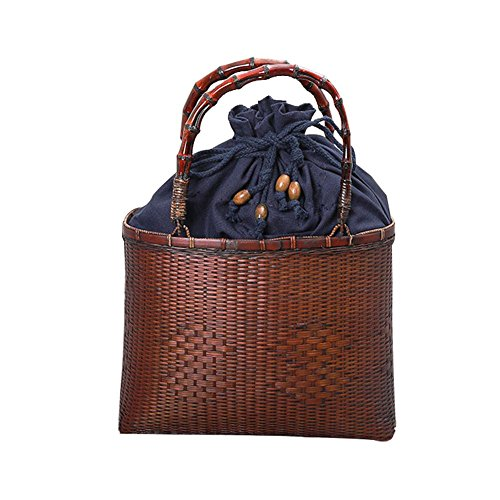 Country Style Chinese Antique Bambus Korb Handgewebte Bambus Tasche