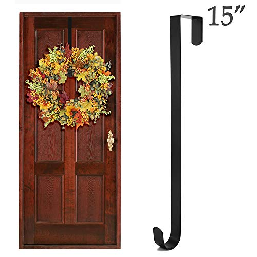- Wish Wreath Hanger Over-The-Door Hooks for Hanging Hats, Coats, Towels, Wreaths and Decorations - 15