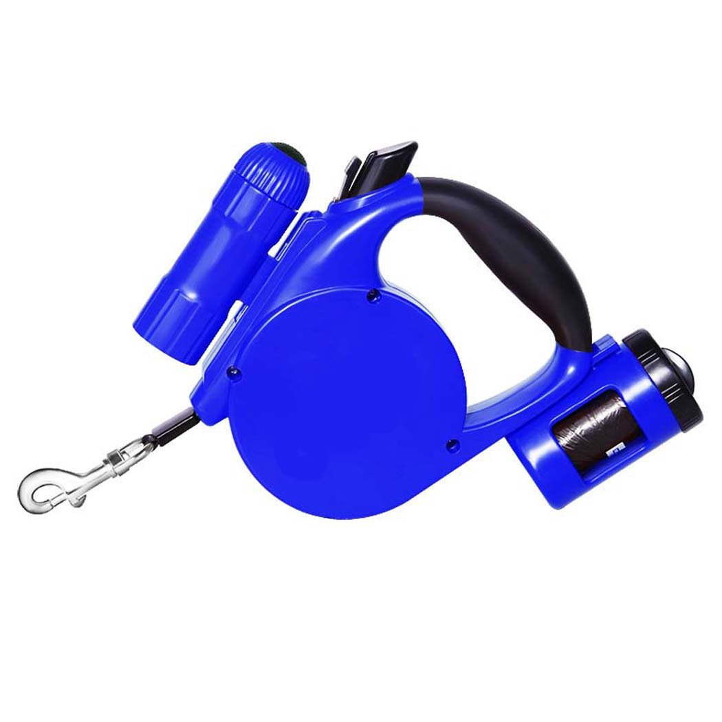 bluee Leash,Retractable Pet Leash ,Dog Lead Anti Chewing with Light,for Large, Medium & Small Dogs (color   bluee)