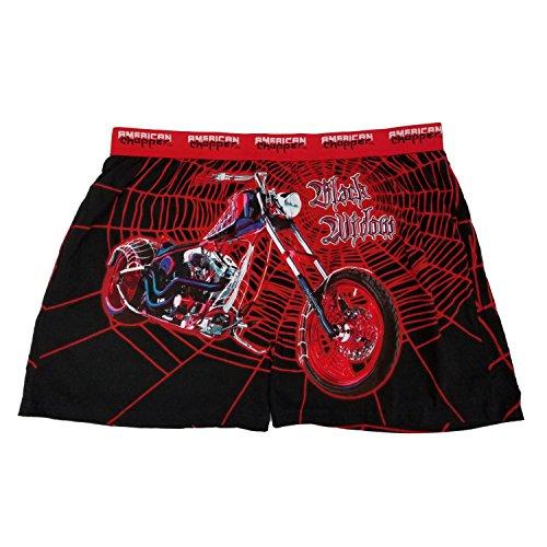 American Chopper Mens Black Widow Motorcycle Knit Boxer (Black Widow Choppers)