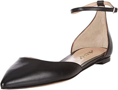 AOOAR Womens Two-Piece Ankle Strap Flats
