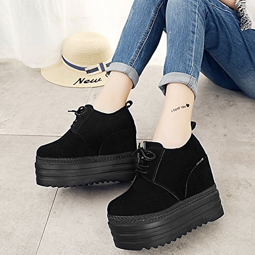 Autumn Women'S High Black Tide Casual In Platform New Winter And The Shoes Increased Shoes Shoes KPHY Heeled Shoes dqnw74XxdT