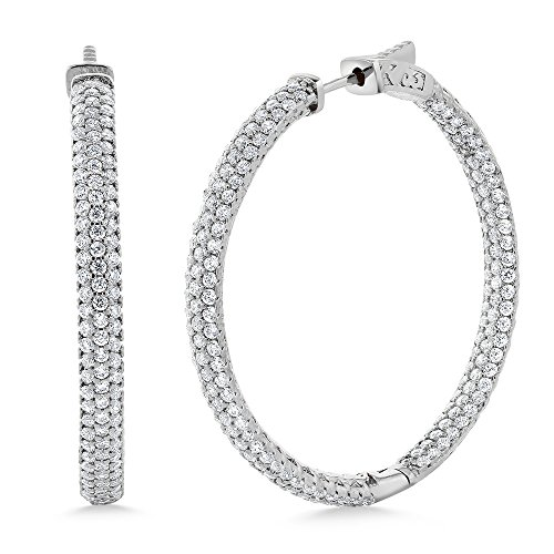 Pave White Gold Earrings - 3