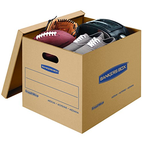 Bankers Box SmoothMove Classic Moving Kit Boxes, Tape-Free Assembly, Easy Carry Handles, 10 Small 20 Medium, 30 Pack (7716601) by Bankers Box (Image #2)