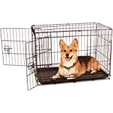 Carlson Secure and Compact Double Door Metal Dog Crate, Medium with Divider Panel