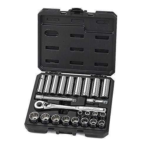 Craftsman 34898 24 Piece Standard 1/2 Inch Drive Socket Wrench Set With 84 Tooth Ratchet