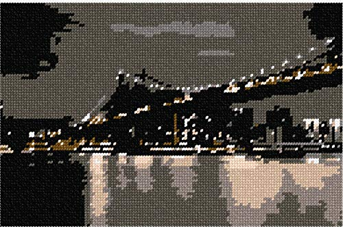 - Pepita Bridge At Night Needlepoint Canvas