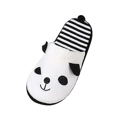 ce51b545585e1 OverDose Unisexe Chaussons Panda Femme Pantoufle Souple Chaussures  Antidérapante Slippers (36, Blanc)