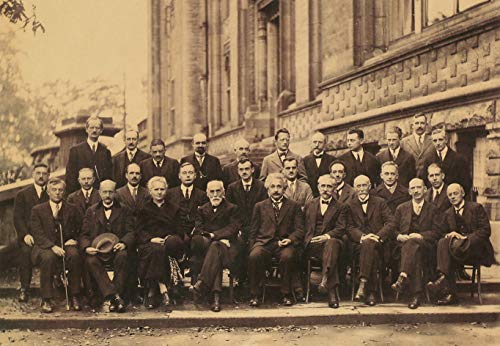 20th Century Photo - LanS The Most Powerful Scientist in The Twentieth Century - Famous Photo in The History of Mankind, The Fifth Solvay Meeting, Nostalgic Retro Poster, Wall Art Poster