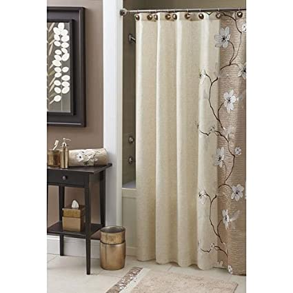CroscillR Magnolia Shower Curtain Bronze