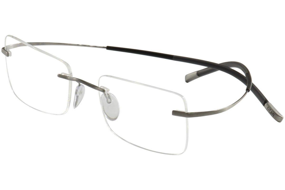 Silhouette TMA Icon 7579/60 Eyeglasses 6061 Silver 51MM