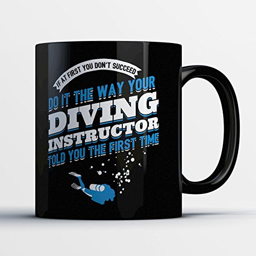 Drivers Coffee Mug - The Way Your Diving Instructor Told You - Funny 11 oz Black Ceramic Tea Cup - Cute and Humorous Drivers and Driving Lover Gifts with Drivers - Scanner Virtual Online