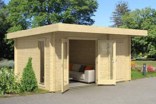 Gartenhaus G256 - Caseta de jardín con suelo (44 mm, tablones de madera, superficie: 13,50 m2, tejado a granel): Amazon.es: Bricolaje y herramientas