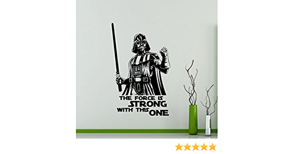 Wall Stickers Star Wars Darth Vader amidal Bathroom Wall Sticker Vinyl Cropped