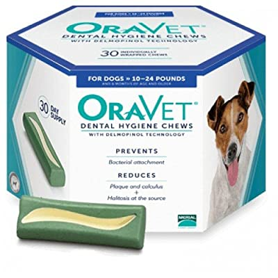 Oravet Dental Hygiene Chews 10-24lbs - 30 chews from Merial Limited