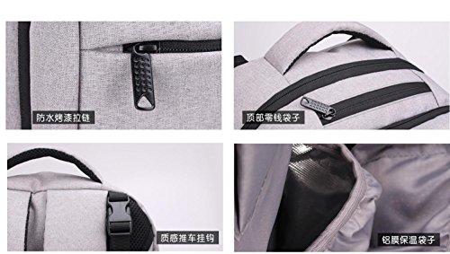 Mochila de pañales de alta calidad con estilo resistente al agua de gran capacidad multi-función pañal mochila con correas de cochecito de bebé , noble grey noble grey