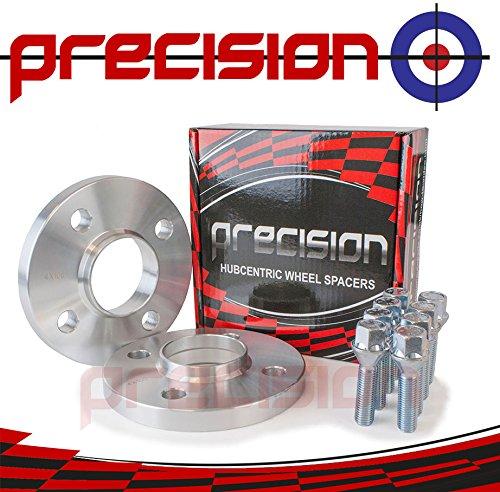 15mm Hubcentric Spacers 1 Pair + 8 Chrome Bolts for Ŕenault Clio I Precision