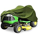 "Deluxe Riding Lawn Mower Tractor Cover Fits Decks up to 54"" - Green - 190T Polyester Taffeta PA Coated Water and UV Resistant Storage Cover"