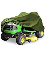 "North East Harbor Superior Riding Lawn Mower Tractor Cover Fits Decks up to 62"" - Green - 300D Polyester Oxford PU Coated Water and UV Resistant Storage Cover - 82"" L x 50"" W x 47"" H"