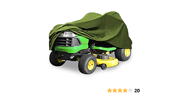 """Green Deluxe 190T Riding Lawn Mower Tractor Storage Cover Fits Decks up to 54/"""""""