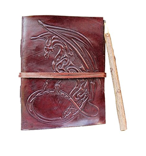 Incredible Antique Arts Handmade Game of thrones journal/dragon journal leather With Leather Strap Closure Leather Journal Note Book Diary 5''x7'' Leather Journal for Men and Woman with Leather Cord by Incredible Antique Arts