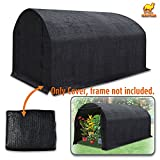 Strong Camel 80% Sunblock Shade Cloth Sun Net Sun Mesh Shade Plant Cover for Greenhouse Gardening for plant cover For Greenhouse Flowers, Plants, Patio Lawn (12' x 7' x 7')