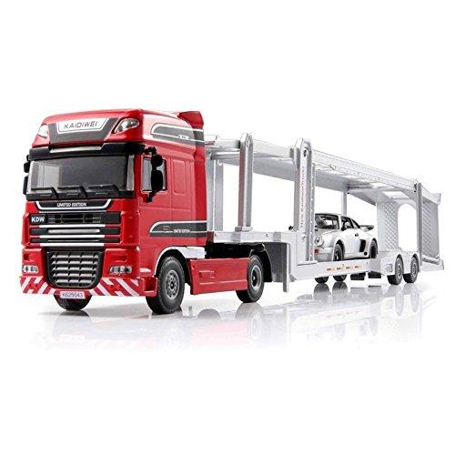 Tipmant Alloy Children Die-cast Vehicle Model Toy Large Car Transporter Truck Diecast Scale 1:50 Kids Gift - (Large Car Transporter)