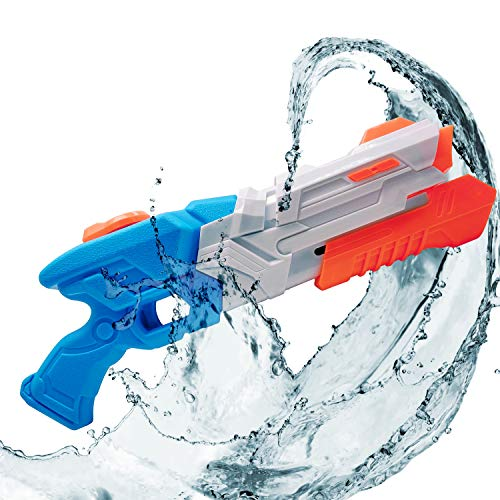 (Whiteleopard Water Gun Water Blaster Large Capacity Squirt Gun, Shoots Up to 35 Ft- Game Fun Far Range Party Favor Toy for Kids and Adults)