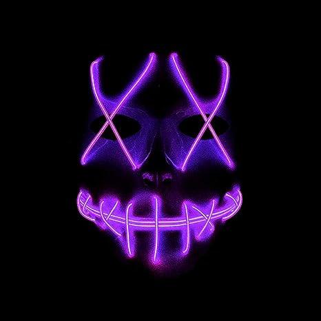 Amazon.com: GEDASHU Halloween mask Halloween Mascara Glowing ...
