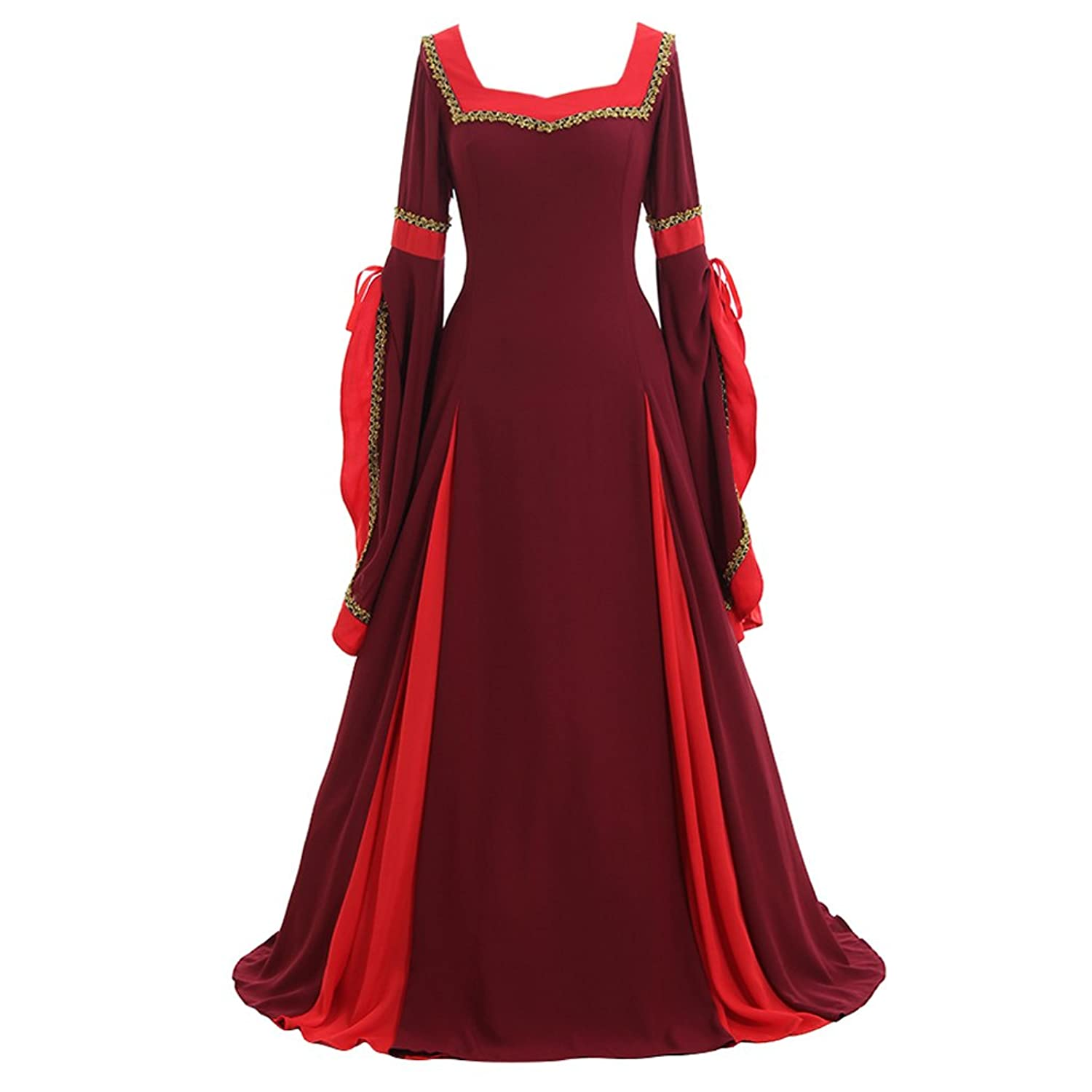 b3c5e1898adbe ... Queen Lady Guinevere Bordeaux-Red Women s Medieval Dress Costume -  DeluxeAdultCostumes.com