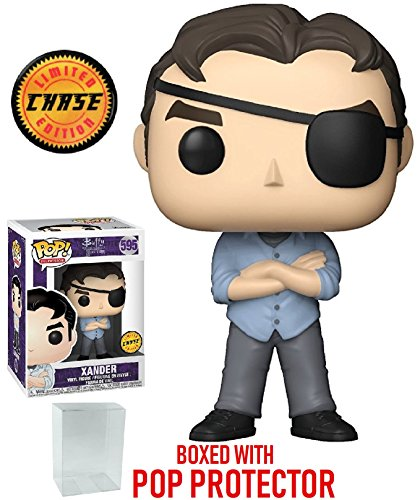 Funko Pop! TV: Buffy the Vampire Slayer 25th Anniversary - Xander with Eye Patch CHASE Variant Limited Edition Vinyl Figure (Bundled with Pop BOX PROTECTOR CASE)