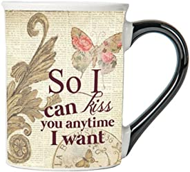 So I Can Kiss You Anytime I Want Mug, Vintage Coffee Cup, Ceramic Vintage Mug, Vintage Gifts By Tumbleweed