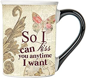 So I Can Kiss You Anytime I Want Mug, Vintage Coffee Cup, Ceramic Vintage Mug, Vintage Gifts By Tumbleweed