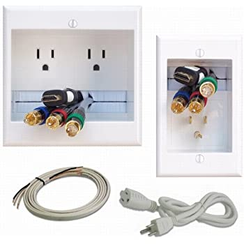 Amazon.com: PowerBridge ONE-CK Recessed In-Wall Cable Management ...