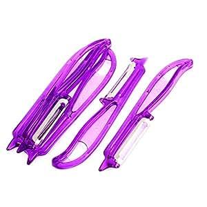 uxcell Plastic Fruit Vegetable Peeler Tool Cutter 5.5 Inch Length 5pcs Purple