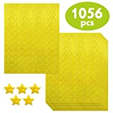 1056 PCS Metallic Gold Star Shaped Foil Labels