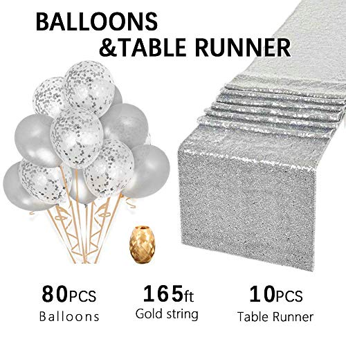 B-COOL Silver Sequin Table linens 14
