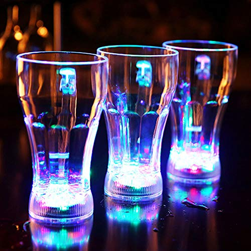 CTlite Light up Cup LED Flashing Beer Mug Liquid Activated Glowing Drinking Cups for Birthday Christmas Halloween Party Bar Home (Pack of 3) for $<!--$15.99-->