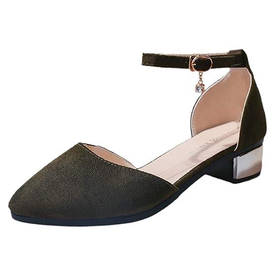 DEELIN Sandalen Schwarz Sandaletten Damen Mit Absatz