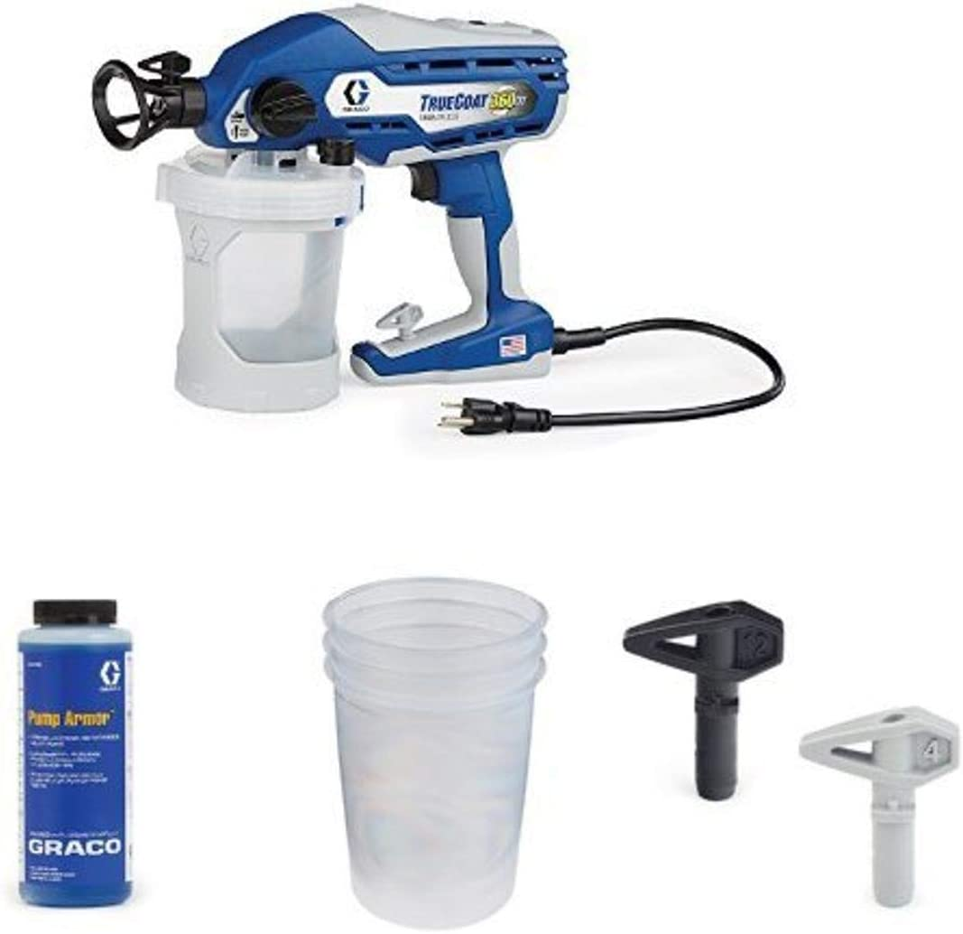 Graco TrueCoat 360DS Paint Sprayer Kit with Pump Armor, Paint Bags and Tips