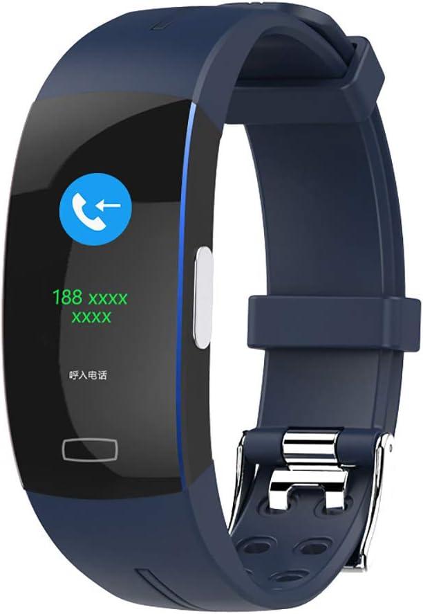 Clearlove77 Presión Arterial Reloj Electrónico,frecuencia Cardíaca Reloj,Reloj Deportivo Reloj Inteligente,Dormir Reloj De Pulsera,Bluetooth Información Azul