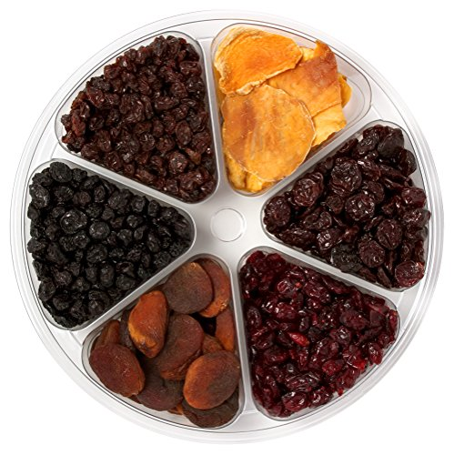 Sincerely Nuts Organic Dried Fruit Mix Tray | Premium Dried Black Raisins, Cranberries, Mango, Apricots, Cherries & Blueberries | Kosher Certified