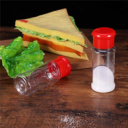 WOVELOT 12 Pcs en Plastique /éPice Sel Poivre Shakers Assaisonnement Bocal Peut Barbecue Condiment Bouteilles De Bocal Bocal R/éCipient Contenant Assaisonnement Cuisine Rouge