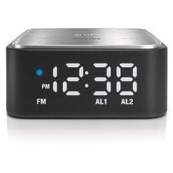 Philips SB170/37 Bluetooth Speaker with Clock Radio (Black)