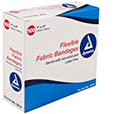Dynarex Adhesive Fabric Bandage, 1 Inches X 3 Inches Sterile, 100 Count (Pack of 3)