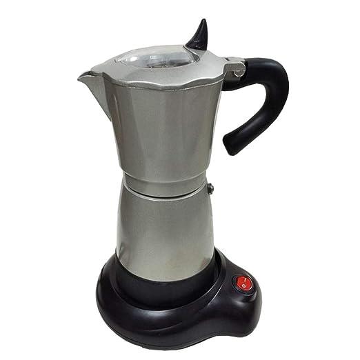 HEYU - 6 Tazas (300 ml) de Moca Italiana enchufable, cafetera ...