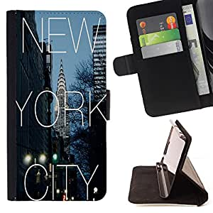 - New York City NY - - Style PU Leather Case Wallet Flip Stand Flap Closure Cover FOR Sony Xperia Z1 L39 - Devil Case -